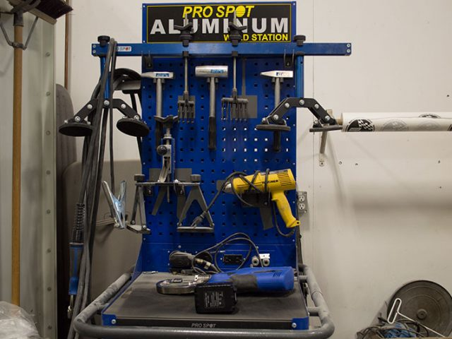 Aluminum Welding Station - Meadow Lake, SK.