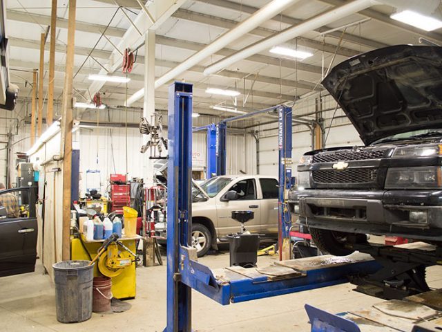 Auto Mechanic Service Bays at Nu Line Auto - Meadow Lake, SK.